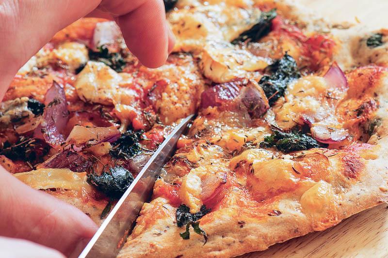 Nässelpizza