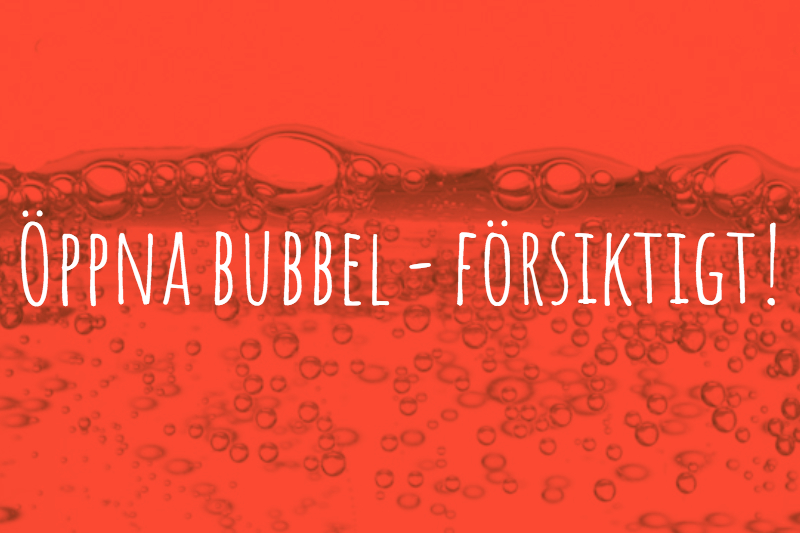 öppna bubbel
